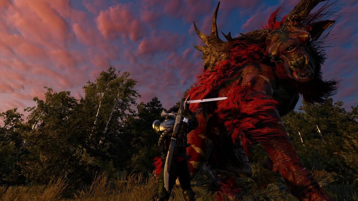 The Witcher 3 Red Fiend fight  by ev666il on DeviantArt