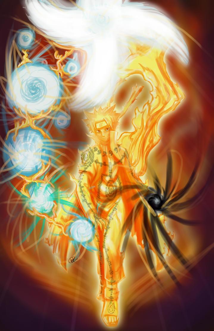 Hokage Naruto Nine-Tailed Chakra Mode by Will2Link on ...