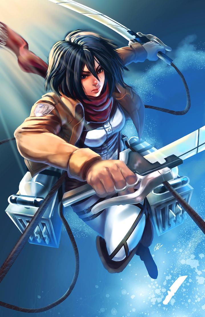 Snk mikasa ackerman by will2link on deviantart for Mikasa es su casa