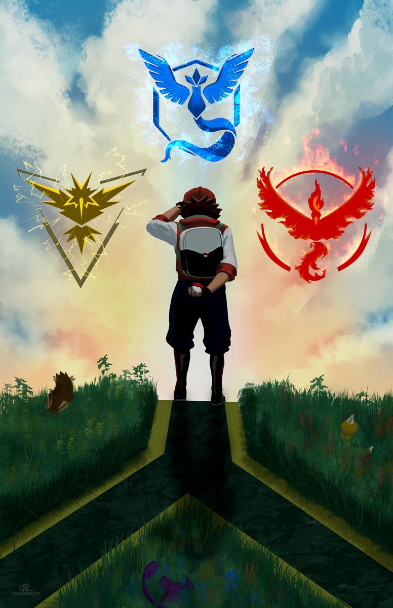 Pokemon Go Digital Art by Snowflake Obsidian