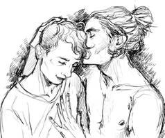 Kiss on the head by Merolett