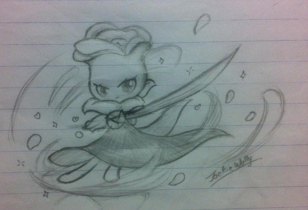PvZ sketch Splendid Rose by JackieWolly