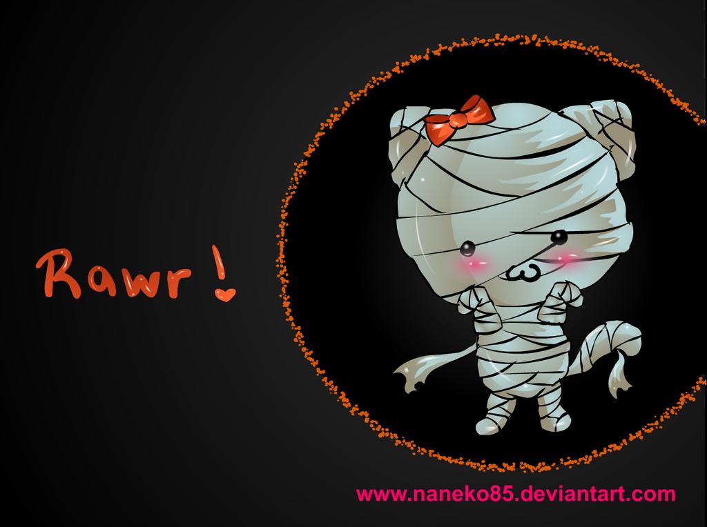 Mummy Cat Wallpaper by nanecakes