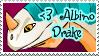 Albino Drake Stamp by nanecakes