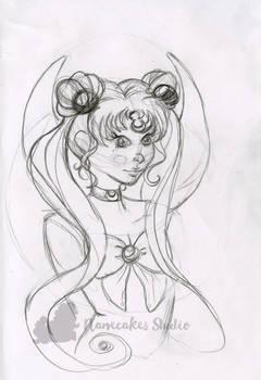 Sailor Moon warm up sketch