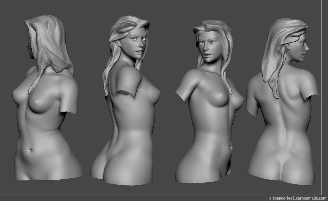 zbrush woman sculpt by AlexanderLee1