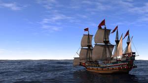'Swiftsure' at Sea, 1585