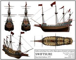 English Ship 'Swiftsure' by DeviantKaled