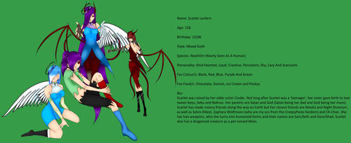 Scarlet In All Her Forms Bio by MissLenfern