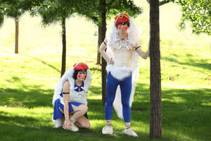 Princess Mononoke double cosplay