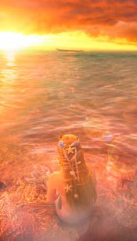 Mermaid comtemplating the sunset