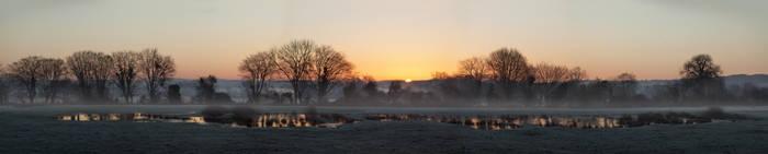 Sunrise landscape - full picture