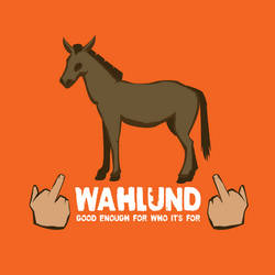 Family Crest: Wahlund (Practical Joke) by orangecranestudios