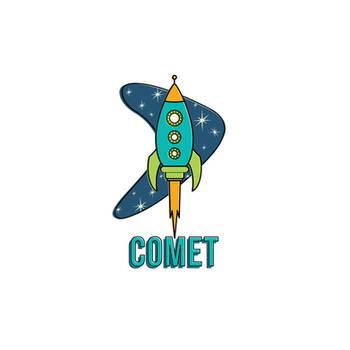Spaceship Logo by orangecranestudios