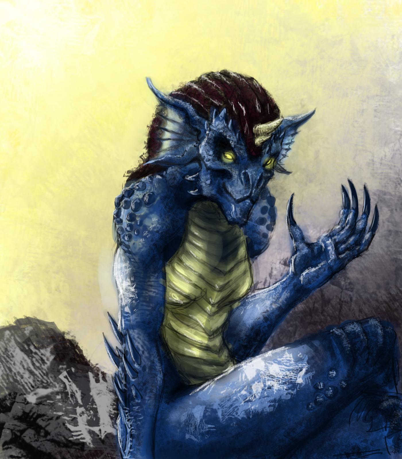 Half Blue Dragon 2 By Samariyu On Deviantart