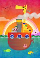 Giraffe Boat by cubecrazy2