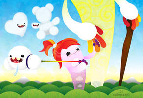 Claudia the Cloud Spirit by cubecrazy2