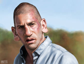 Shane Walsh (The Walking Dead) Caricature by MikeMeth