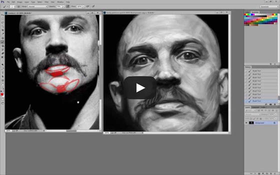 Tom Hardy Portrait Critique