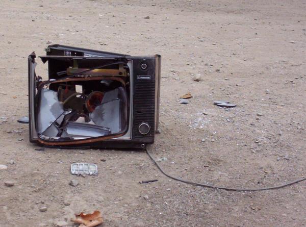 Broken television 1 by jdbartlett
