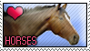 Stamp - Love Horses by MauserGirl