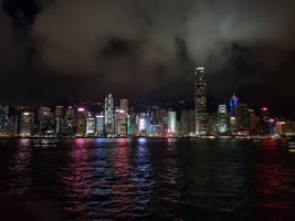 Night view in Hong Kong