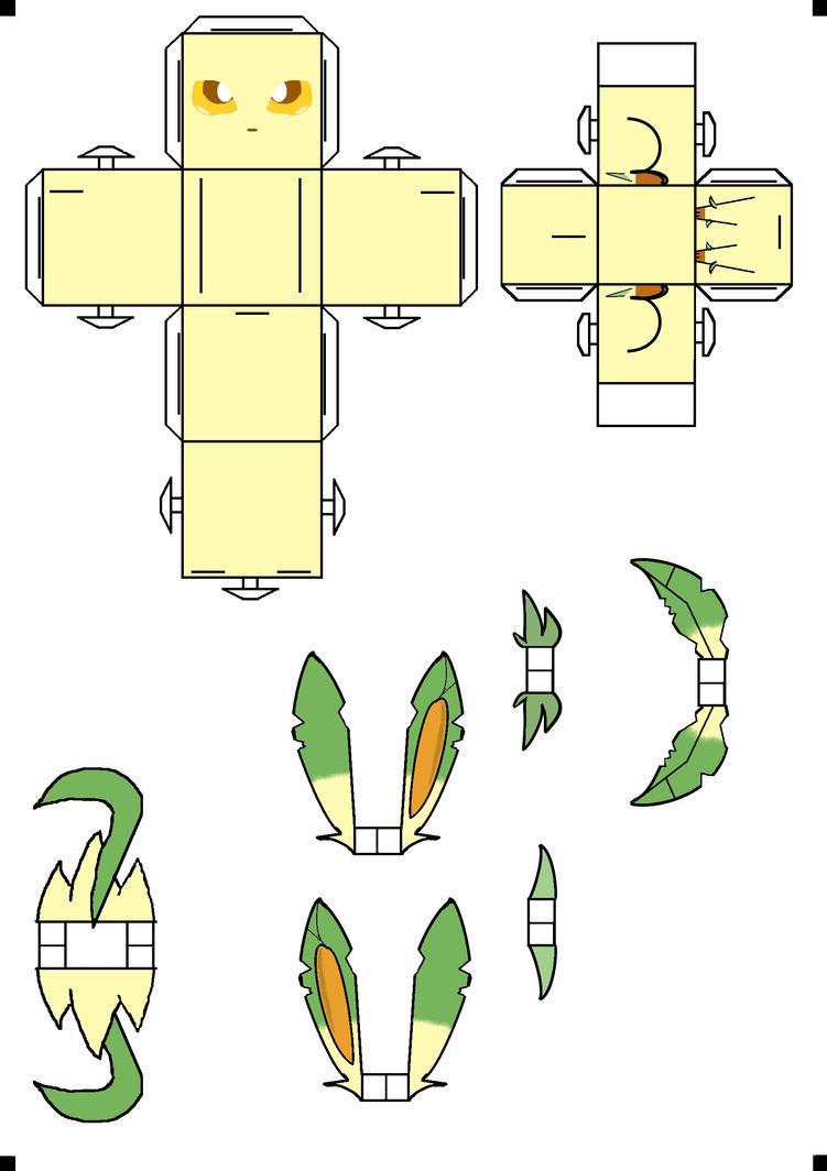 leafeon cubee by klebers on deviantart