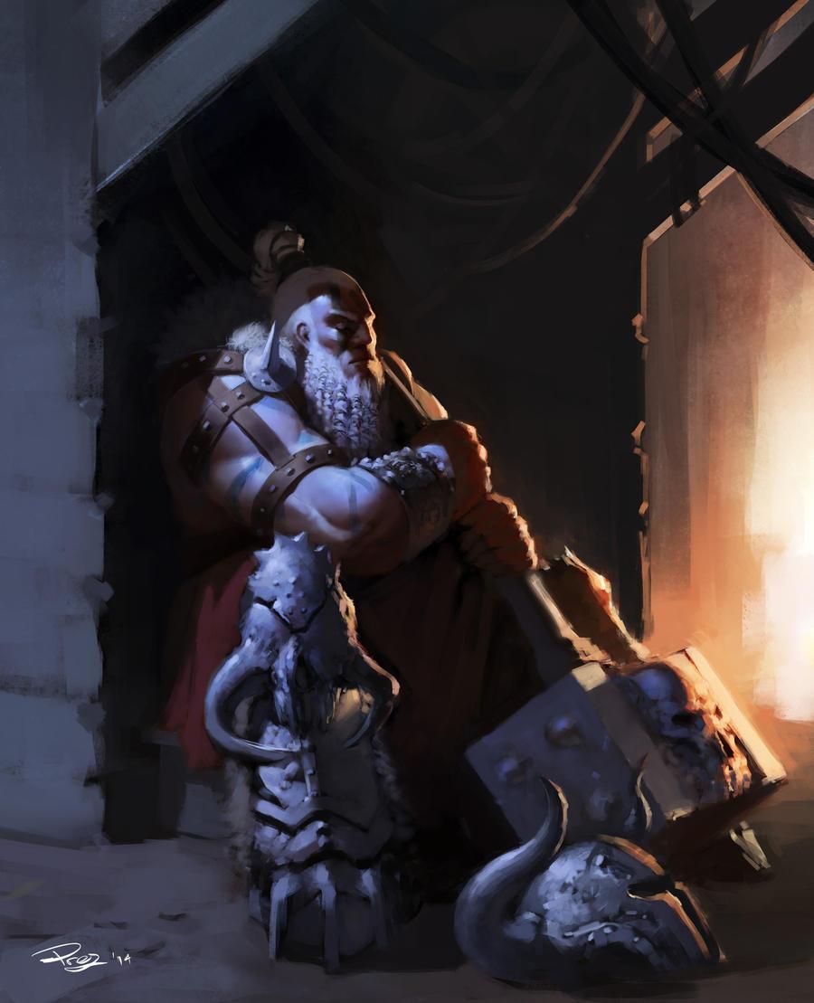 RoScontest BarbarianWaiting by FirebladePrez