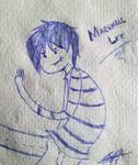 Marshall in napkin
