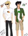 Dirk and Jake by NaruHina1526