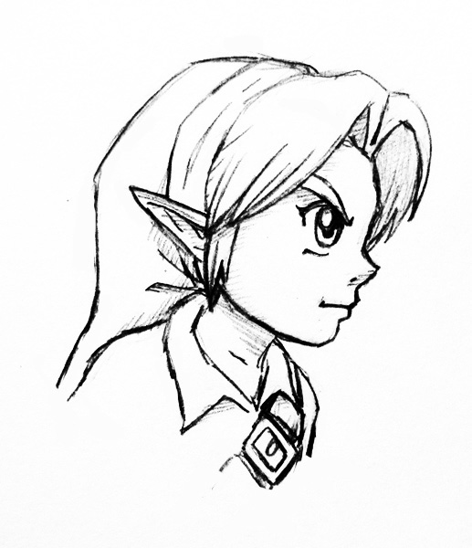 Young Link Profile Sketch By Left-Handed-Knight On DeviantArt