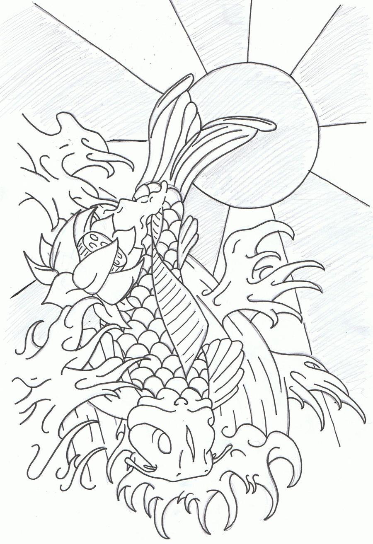 Koi Tattoo Design by Laranj4