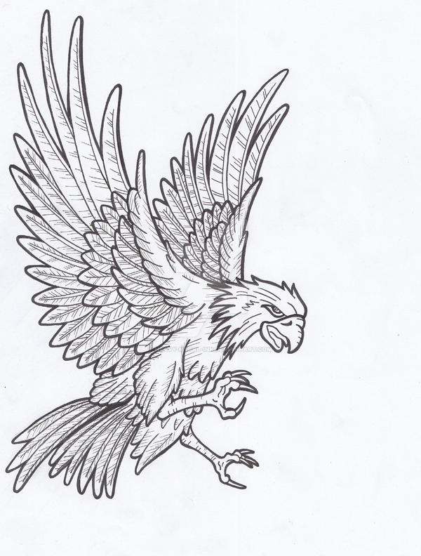 Eagle Tattoo Line Drawing : Eagle lines by heavy metal ink on deviantart