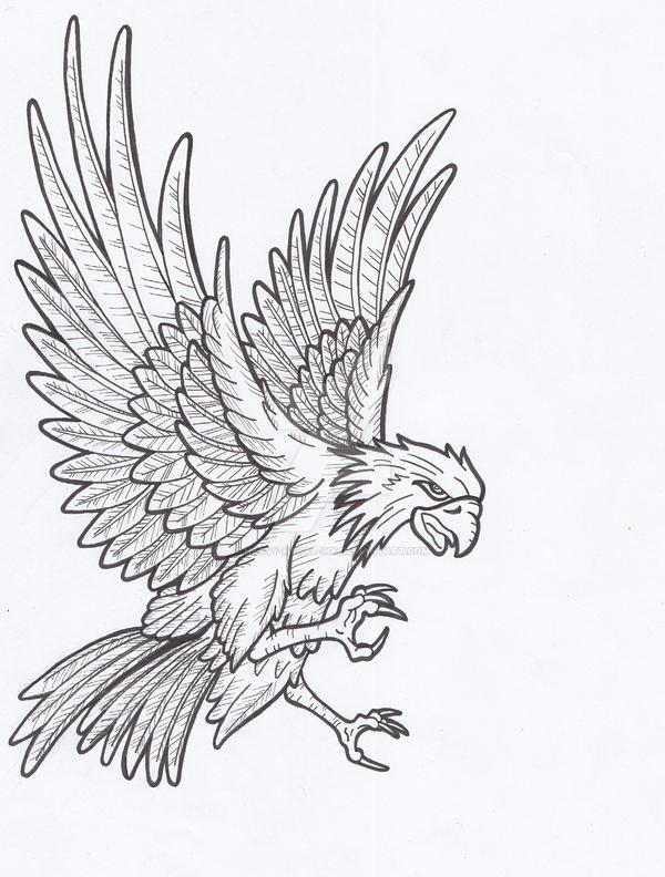 Line Art Eagle : Eagle lines by heavy metal ink on deviantart