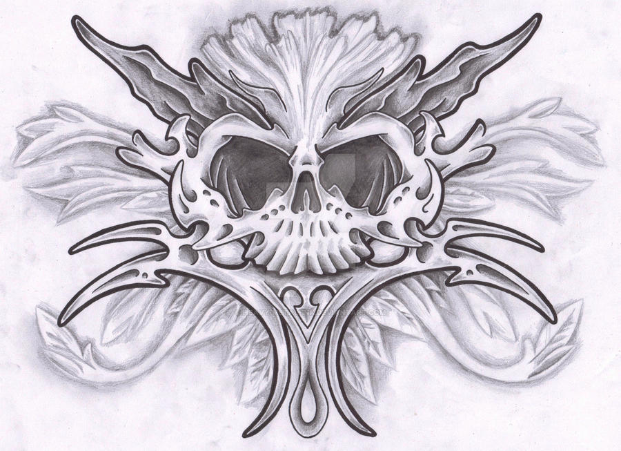 Bio-Skull by Heavy-metal-ink