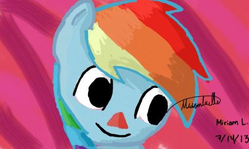 My little Animal Crossing : Vilager Rainbow Dash by Dashie5899