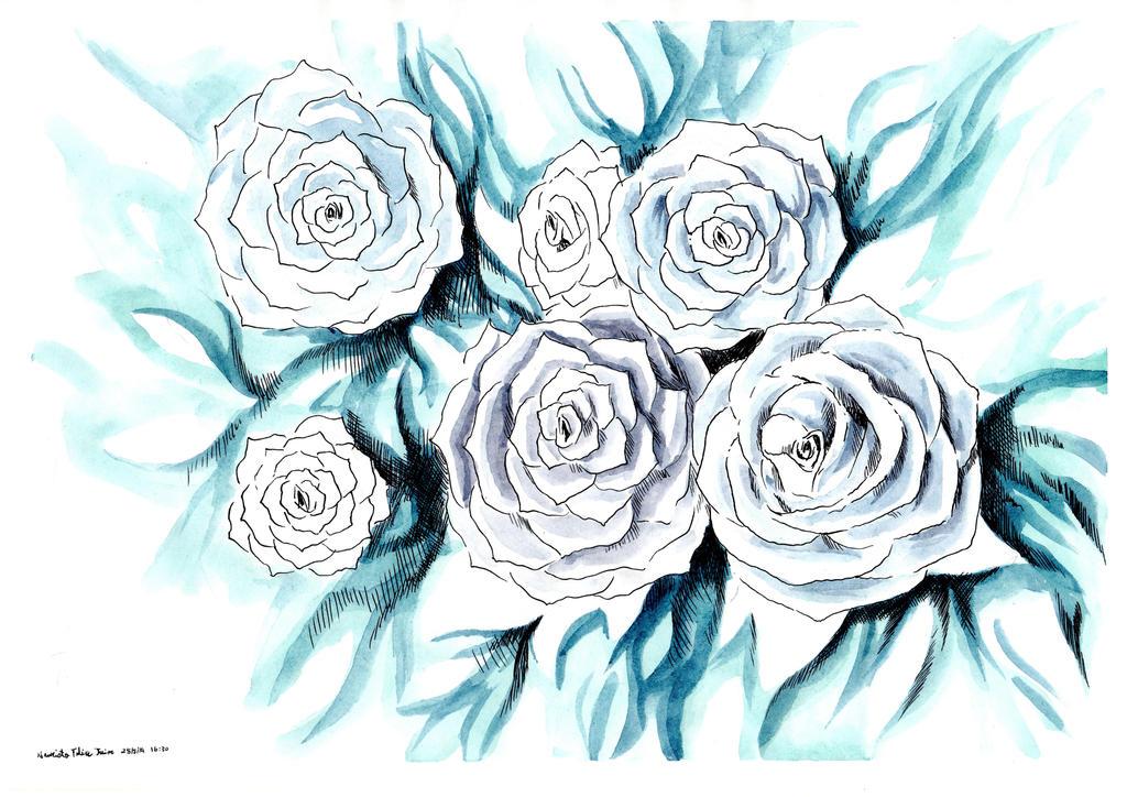 how to draw sideways rose
