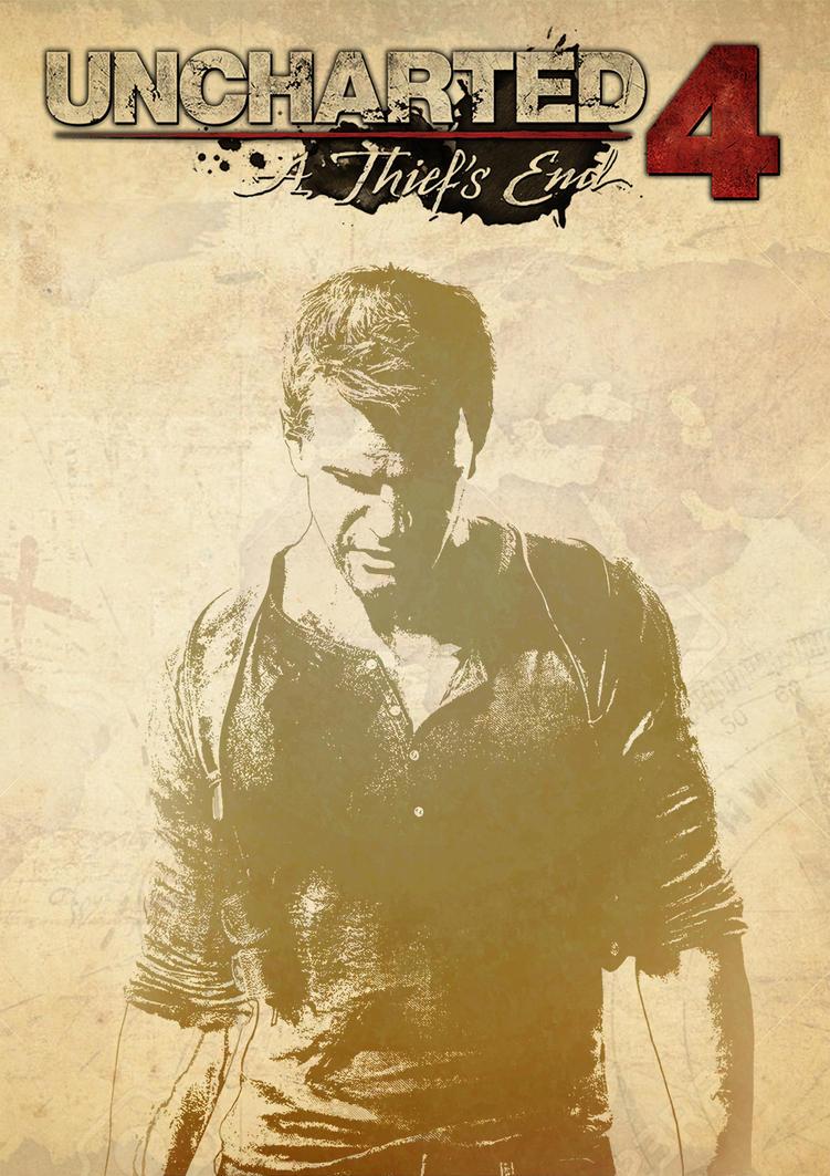 Uncharted 4 cover art by waqasmoosa