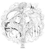 INKTOBER 01 - THE TWINS