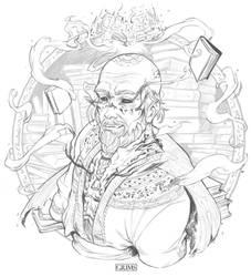 INKTOBER #3 - KNOWLEDGE KEEPER