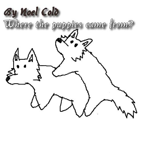 Chibi Wolf Mating Lineart-Base by LadyOrca