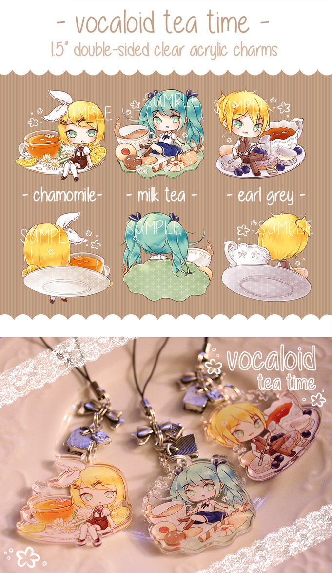 Charms: Vocaloid Tea Time by Haiyun