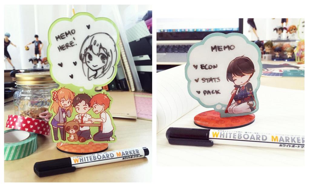 Memo Stands: Gekkan Shoujo + Horikawa Kunihiro by Haiyun