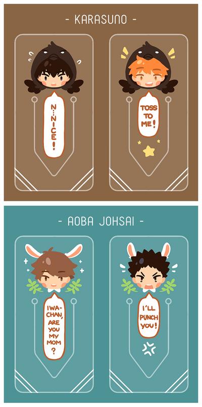 Clear Book Tabs: Karasuno + Aoba Johsai by Haiyun