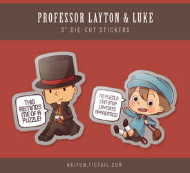 Stickers: Professor Layton and Luke by Haiyun