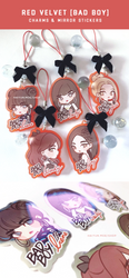 Red Velvet Charms + Mirror Stickers by Haiyun