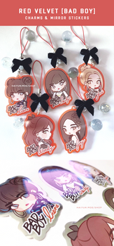 Red Velvet Charms + Mirror Stickers