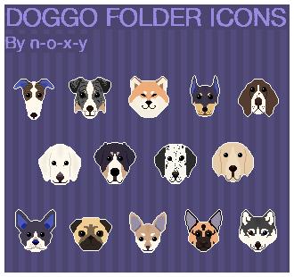 Pixel Dog Folder Icons Windows by N-o-x-y
