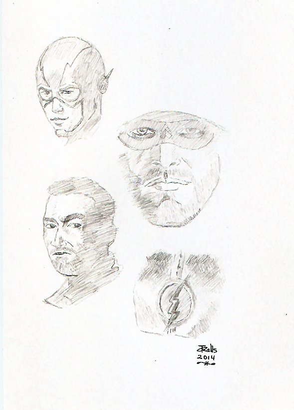 Arrow/The Flash Sketches by jmralls2001