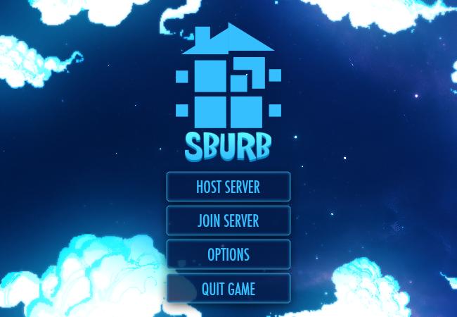 SBURB main menu mock up by preciouslittletoasty